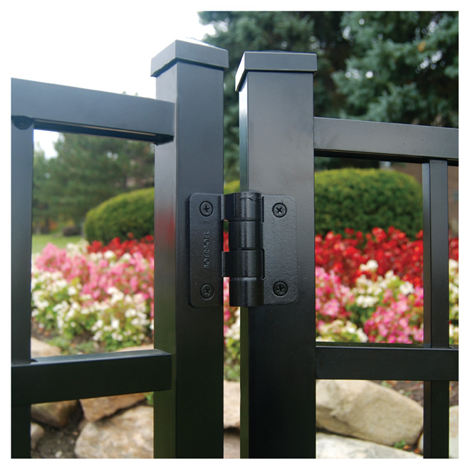 Fence Gate Butterfly Hinges - Black - 2-Pack