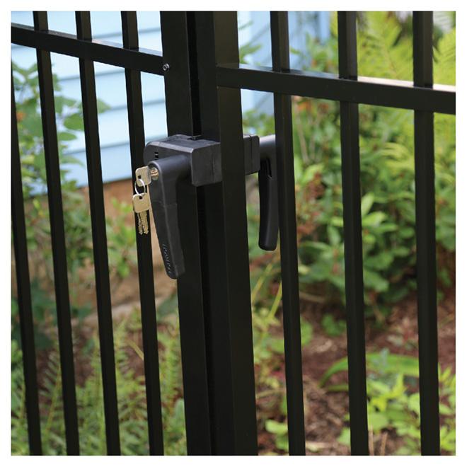 Gate Locking Latch - 2 Sides - Black