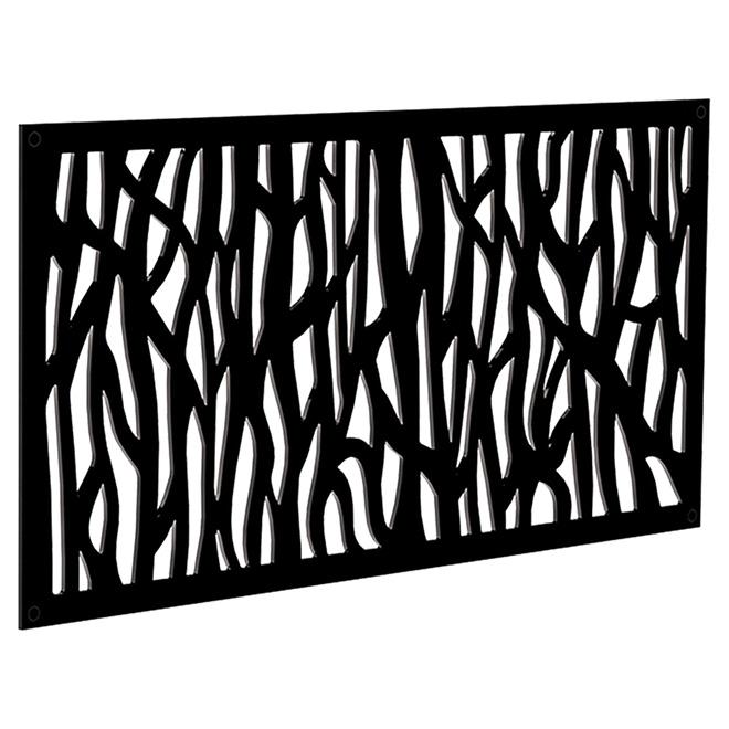 Panneau décoratif d\'extérieur Sprig, 2\' x 4\', noir | RONA