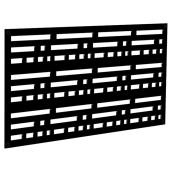 Decorative Panel Morse - Indoor/Outdoor - 2' x 4' - Black