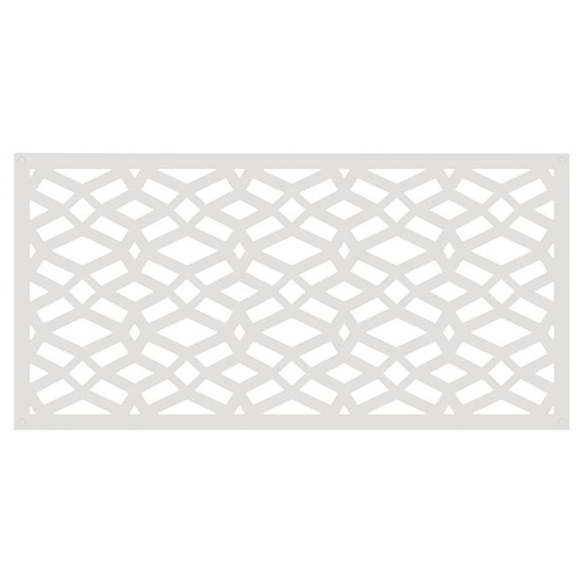 Panneau décoratif d'extérieur Celtic, 2' x 4', blanc