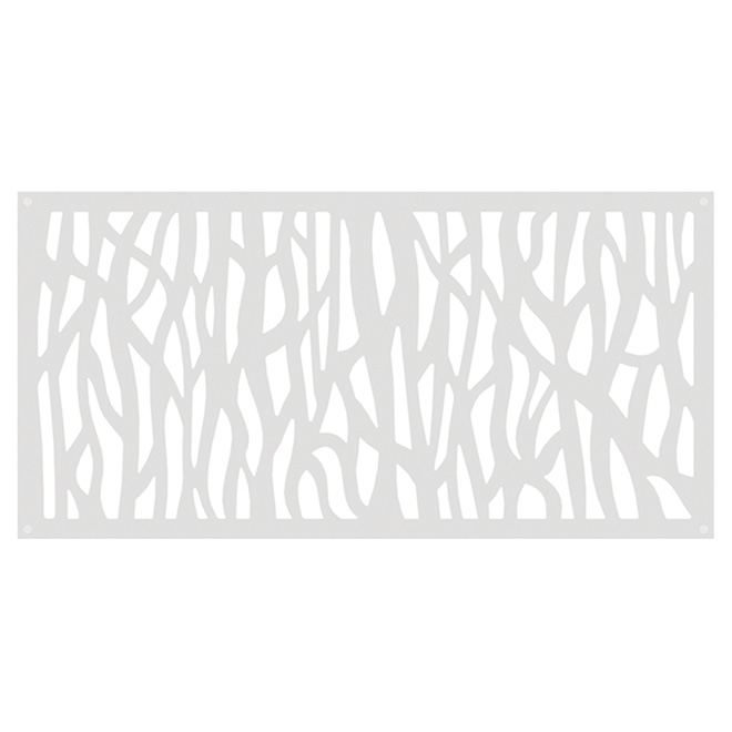 Sprig Outdoor Decorative Panel - 2' x 4' - HDP - White
