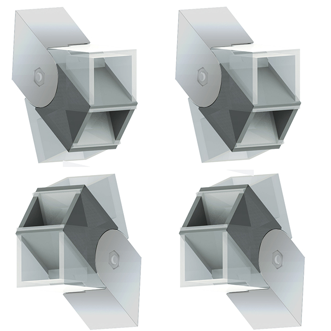 Set of 4 Stair or Angle Brackets - Silver