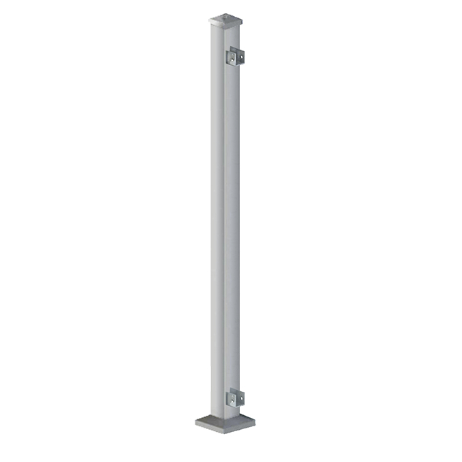 "Iron End Post - 38"" - Silver"