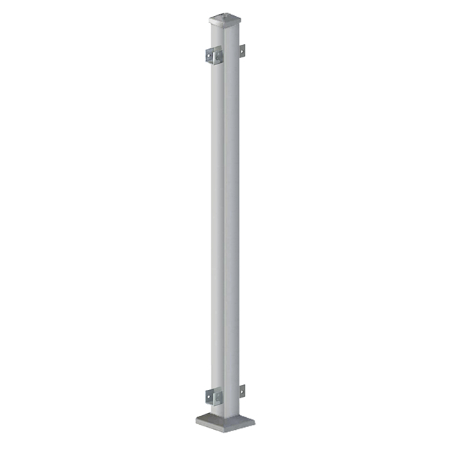 "Iron Mid-Post - 38"" - Silver"