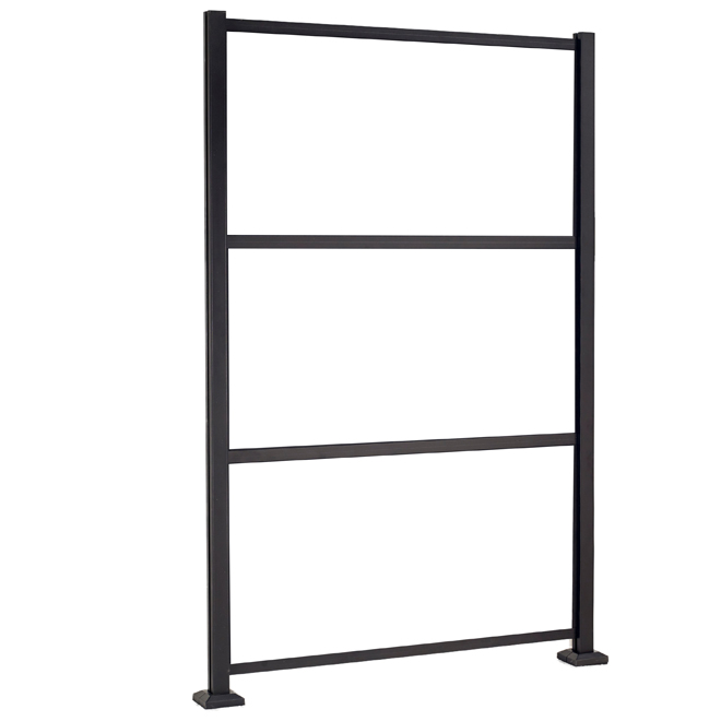 Structure pour panneaux décoratifs, 4,75' x 78,75''', noir