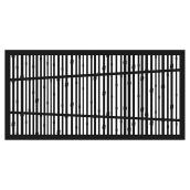 """Bungalow"" Outdoor Decorative Panel - 4' x 2' - Black"
