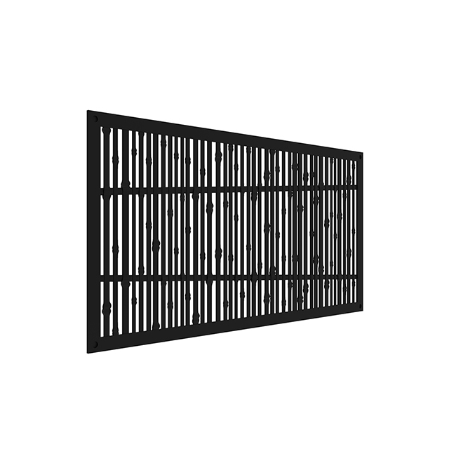 """Bungalow"" Outdoor Decorative Panel - 4' x 2' - Black"