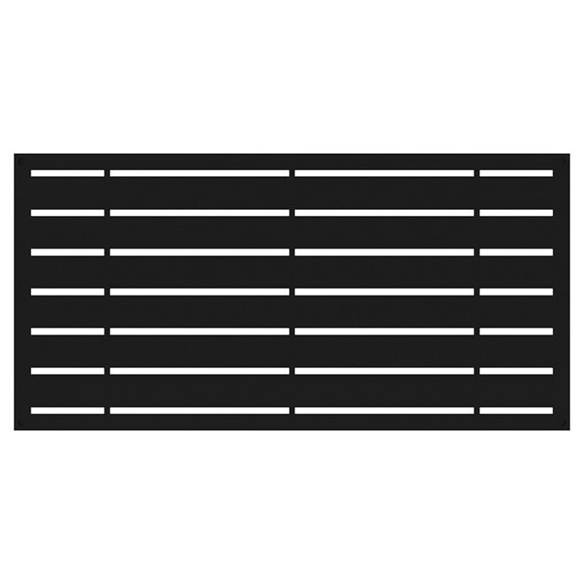 """Boardwalk"" Outdoor Decorative Panel - 4' x 2' - Black"
