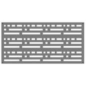 Decorative Panel Morse- Indoor/Outdoor - 2 x 4' - HDP - Grey