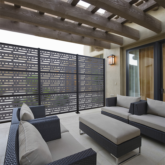 Decorative Panel Morse- Indoor/Outdoor - 2 x 4' - HDP - Grey