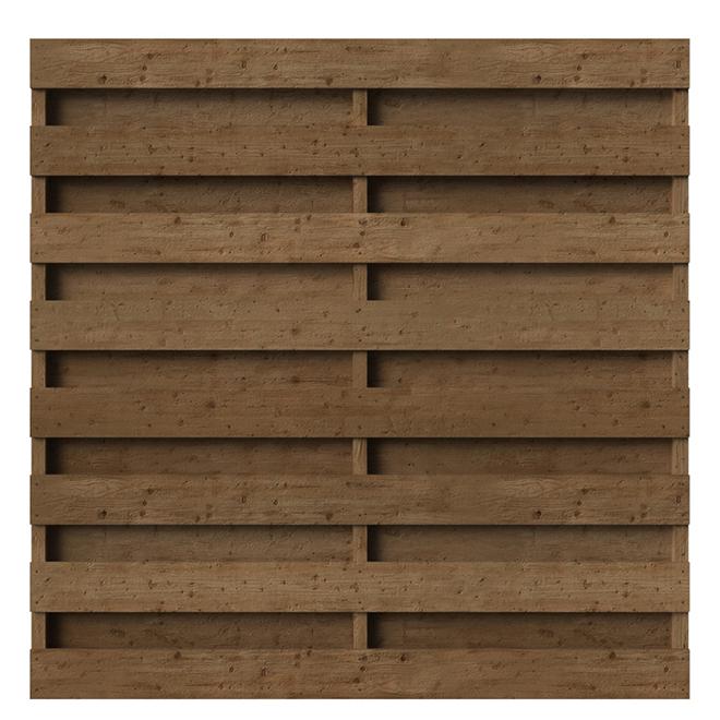 Shadow Box Fence Panel - Pressure-Treated - 6' x 6'