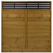 Privacy Panel - Treated Wood - Reversible - Tanatone(R) finish