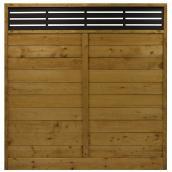 Panneau d'intimité en bois traité, réversible, fini Tanatone(MD)