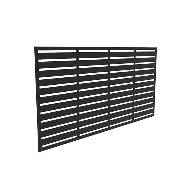 """Barrette Decorative Panel - Boardwalk - 34""""x68""""x0.03"""" - Black"""