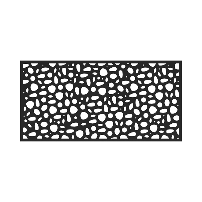 "Barrette Decorative Panel - River Rock - 34""x68""x0.03"" - Black"