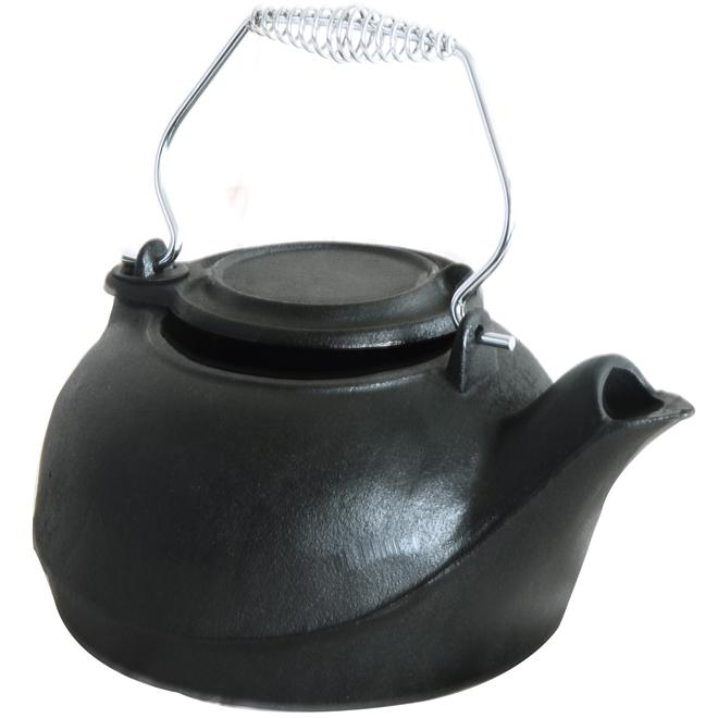 Cast Iron Kettle, 3 Pints, Black