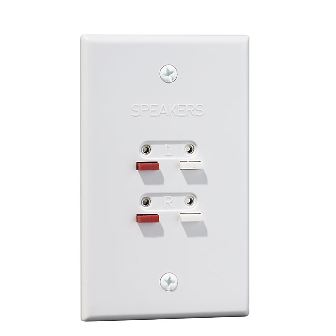 Double Speaker Wall Plate - White