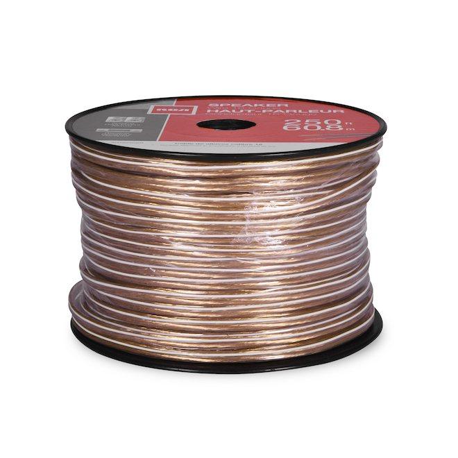 Speaker Wire - Copper/PVC - 250' - Gauge 16 - Gold