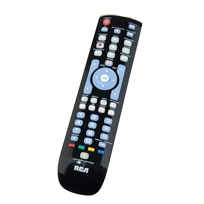 Universal Remote - 4 Devices - Backlit - Black