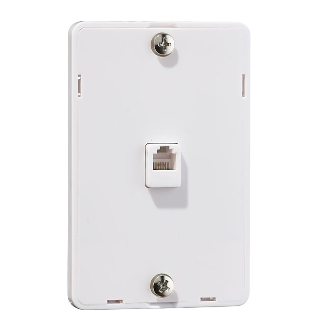 Wall Plate for Telephone - White