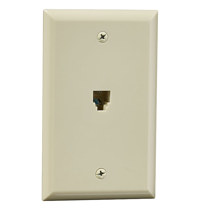 Wall Plate for Telephone - Ivory