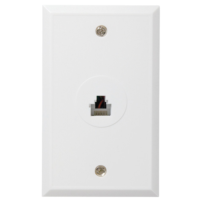 rca rj45 rj12 wall plate ctph552r rona. Black Bedroom Furniture Sets. Home Design Ideas