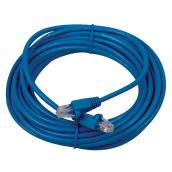 Ethernet Network Cable Cat 5e - 25' - 100 MHz - RJ45 - Blue