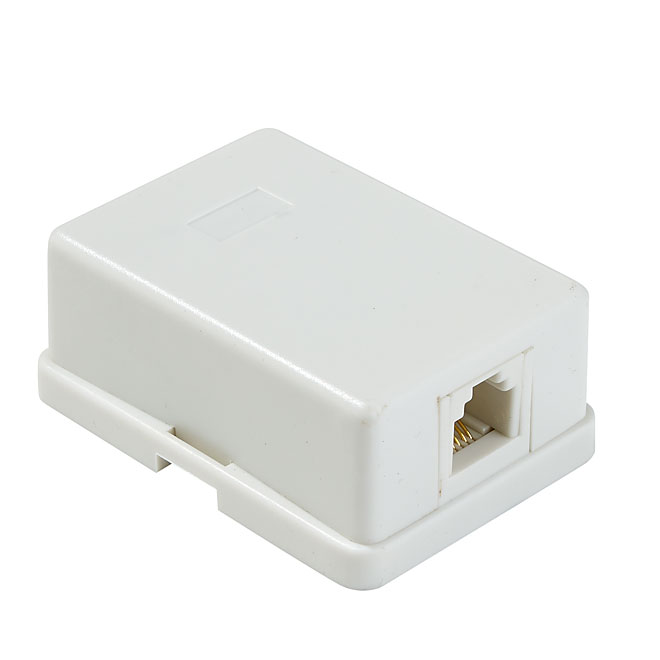 Surface Mount Phone Jack - White