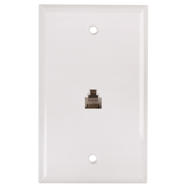 Telephone Line Wall Plate - White