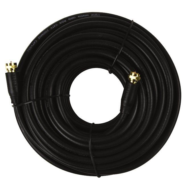 Câble coaxial supérieur RG6