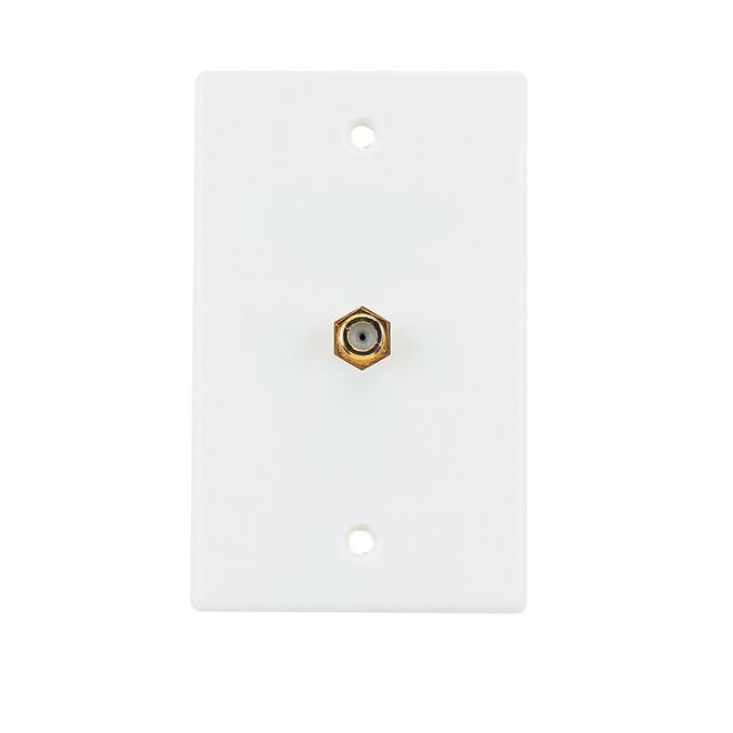 Plaque murale coaxiale, paquet de 5, blanc