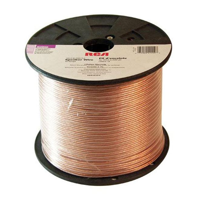 Speaker Wire - Copper/PVC - 500' - Gauge 18 - Gold