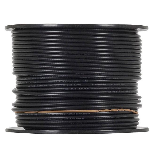 Câble coaxial RG6, 500' x 7 lb, noir
