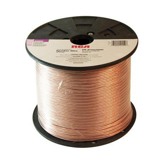 Speaker Wire - Copper/PVC - 250' - Gauge 12 - Gold