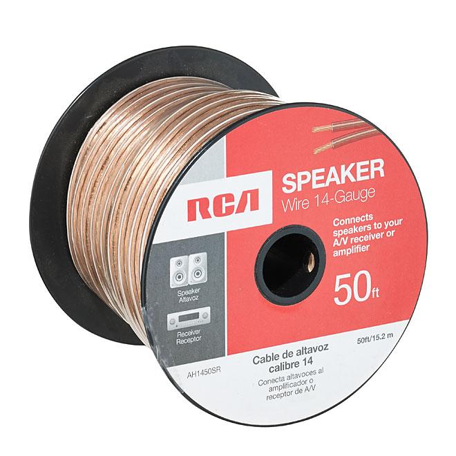 Speaker Wire - Copper/PVC - 50' - Gauge 14 - Gold