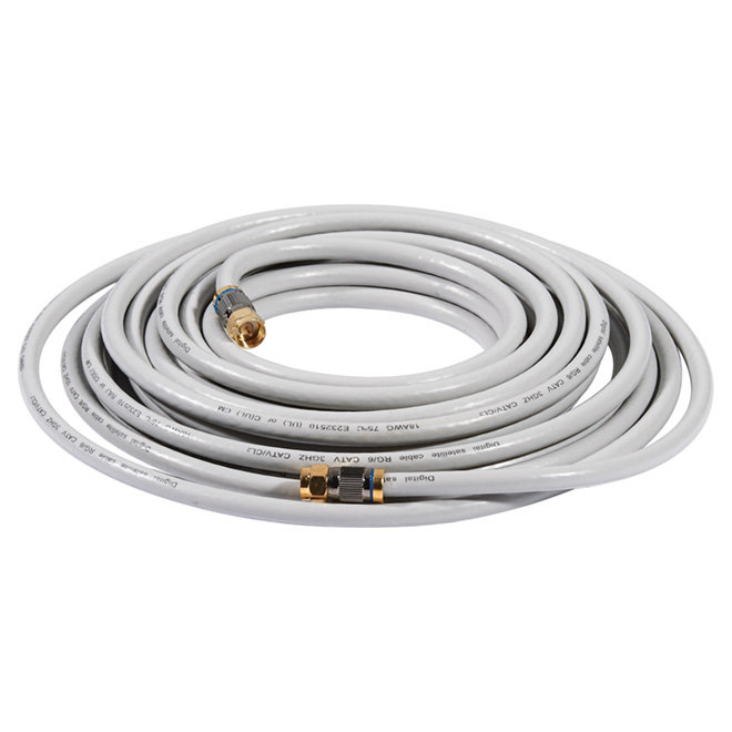 High Quality Coaxial Cable - 25' - Grey