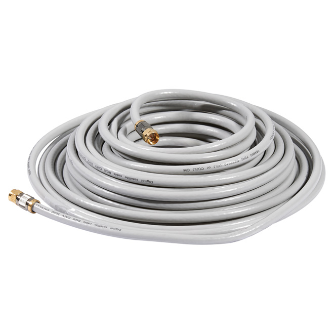 High Quality Coaxial Cable - 50' - Grey