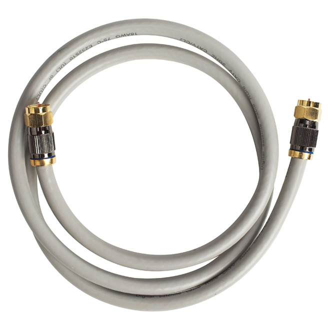 High Quality Coaxial Cable - 6' - Grey