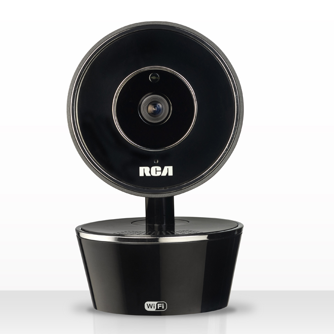 Security Camera with Wi-Fi and Motion Detection - Black