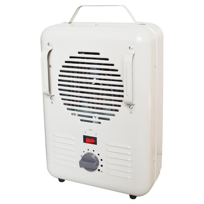 Fan-Forced Heater - 2 Settings - 1300/1500 W - White