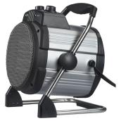 Steel Portable Heater - 750 to 1500 W - Grey/Black