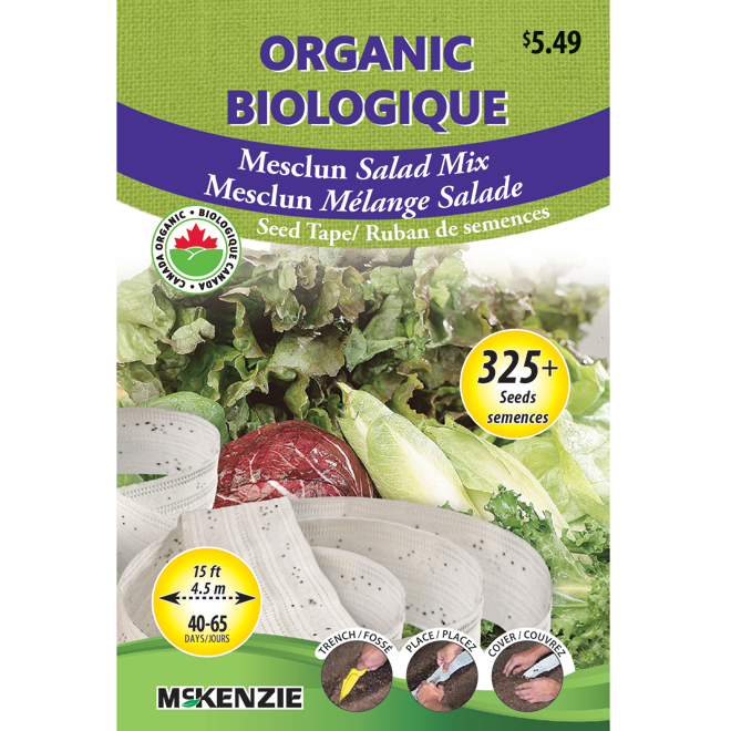 McKenzie Vegetable Seeds packets