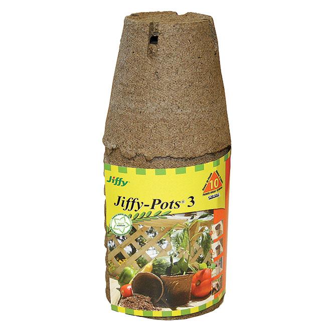 "Pack of 10Peat Moss Pots - 3"""