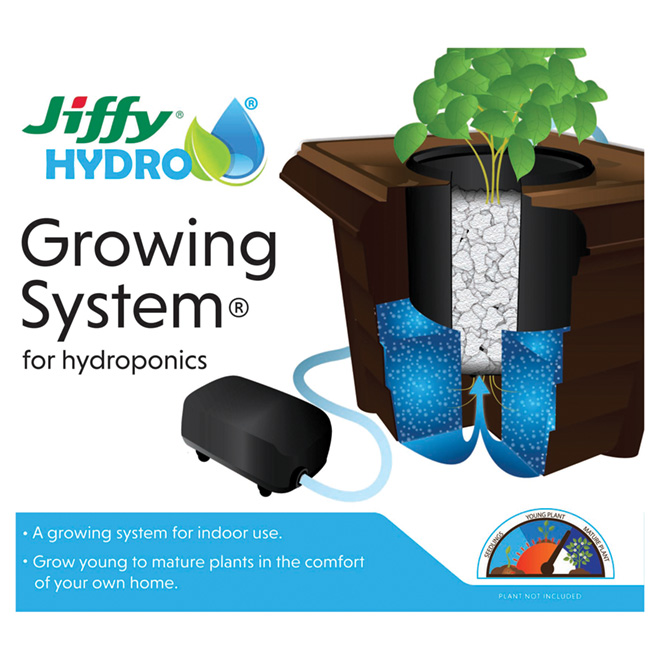 Jiffy Hydroponic Growing System For Young And Mature Plants 140295 Rona