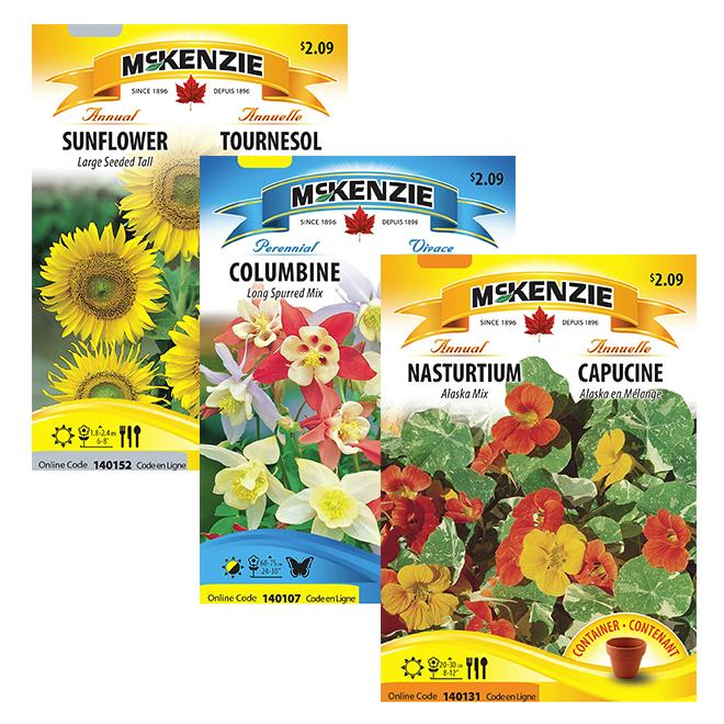 Semences de fleurs en sachet, McKenzie