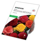 Bulbes de bégonia, McKenzie, multicolore, paquet de 7 bulbes