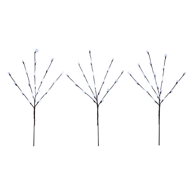 Holiday Living LED Lighted Branches - Indoor and Outdoor - Cool White - 30-in - Pack of 3