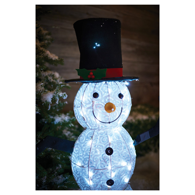 Holiday Living Led Lighted Snowman 70 Lights 48 Xl0132 N Rona