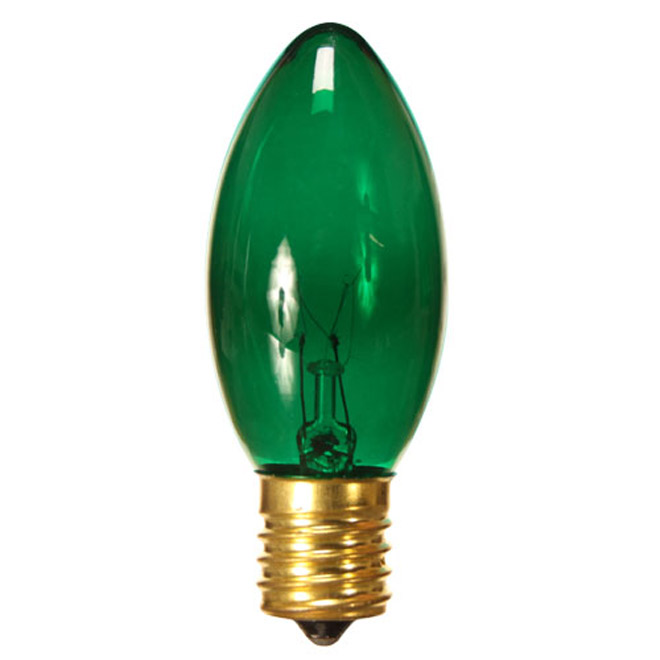 C9 Replacement Bulbs - 7W - Green - 4-Pack